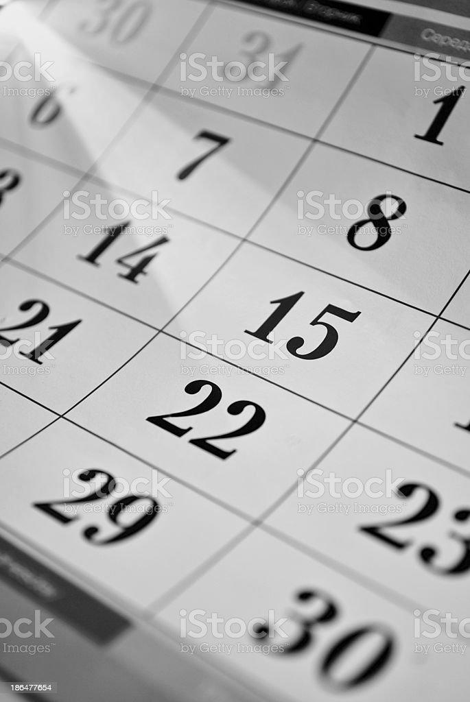 Calendar dates royalty-free stock photo