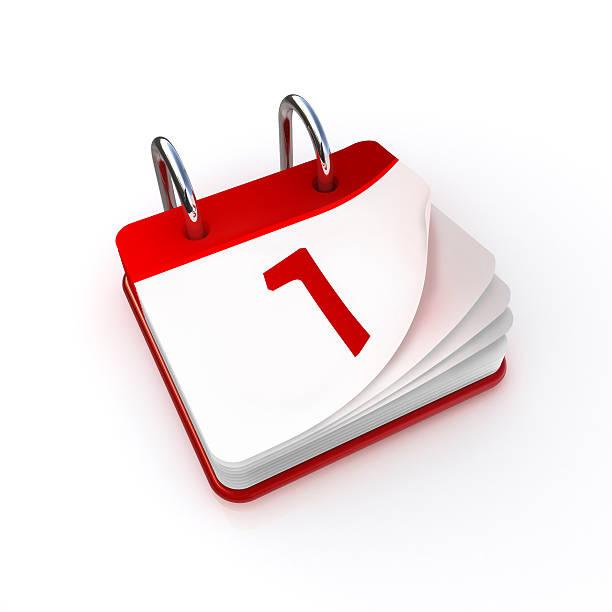 kalender-tag 1 - kalender icon stock-fotos und bilder