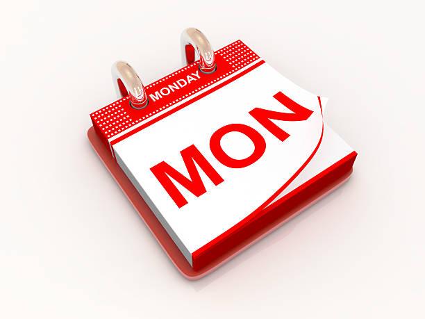 calendrier de la journée du lundi - calendrier digital journée photos et images de collection
