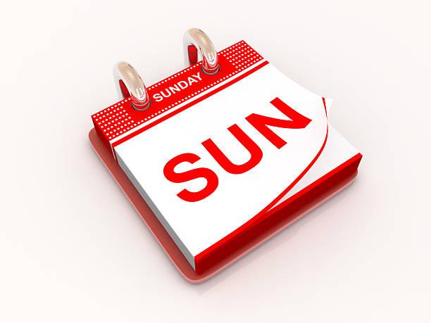 calendrier de la journée du dimanche - calendrier digital journée photos et images de collection