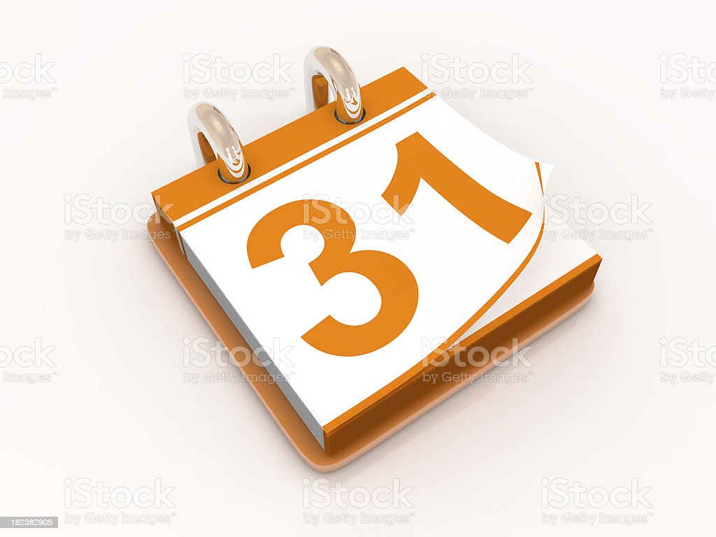 Calendar day thirty one royalty-free stock photo