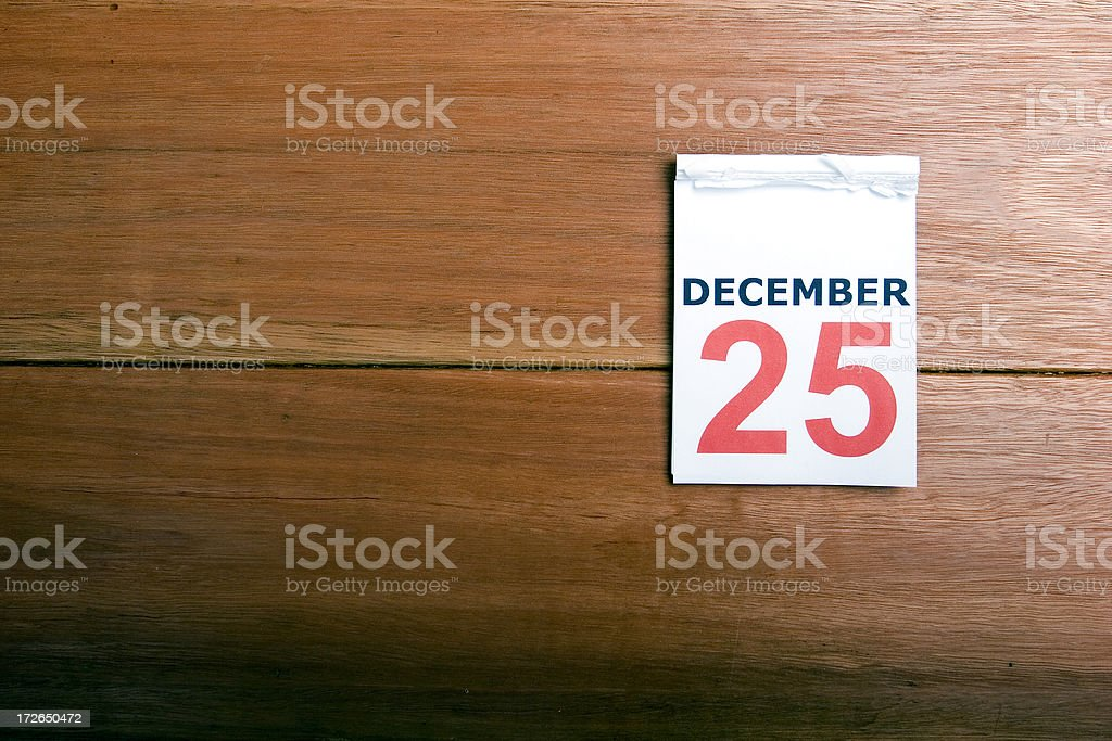 Calendar Dec 25th stock photo