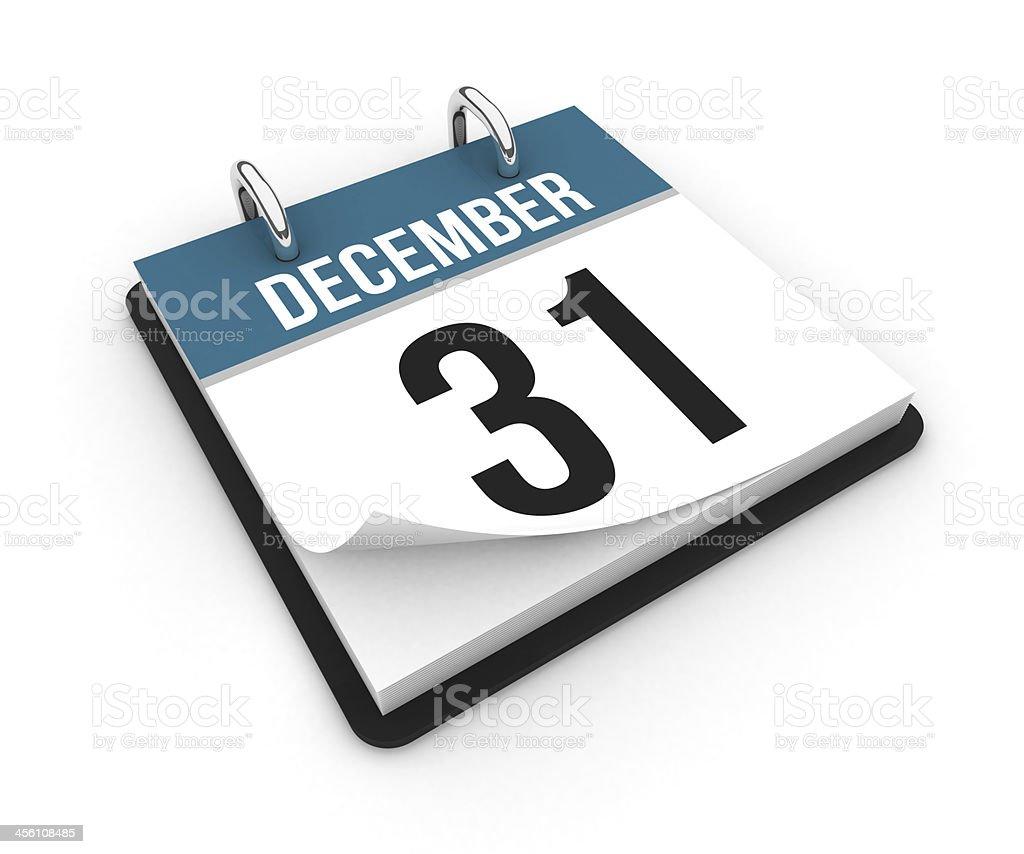 Calendar - December 31 stock photo