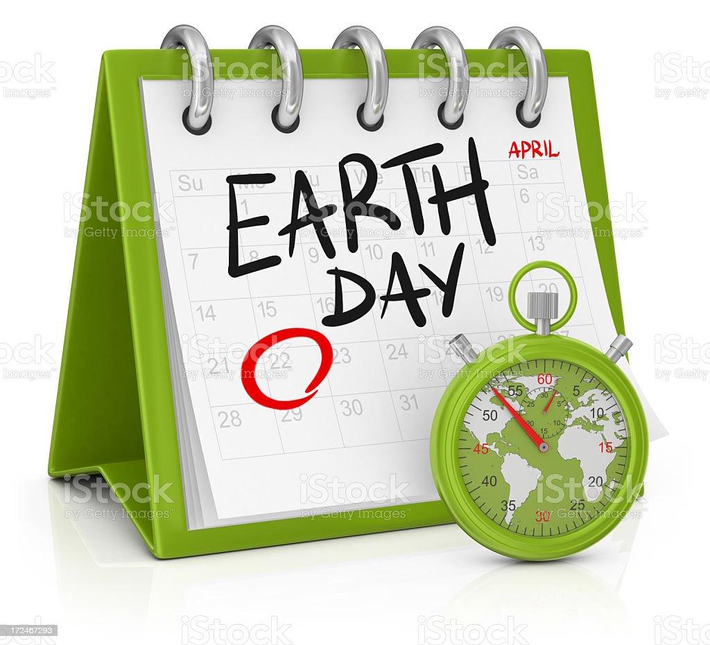Calendar - Earth Day royalty-free stock photo