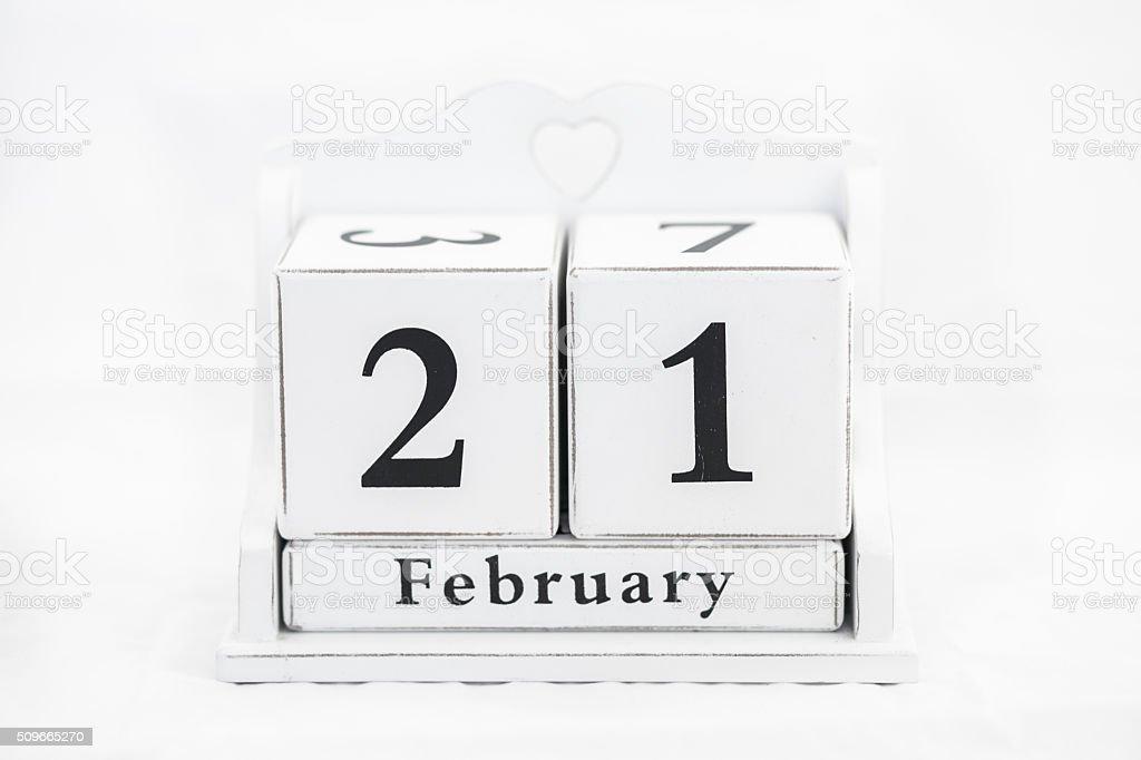 Kalender Februar Datum – Foto