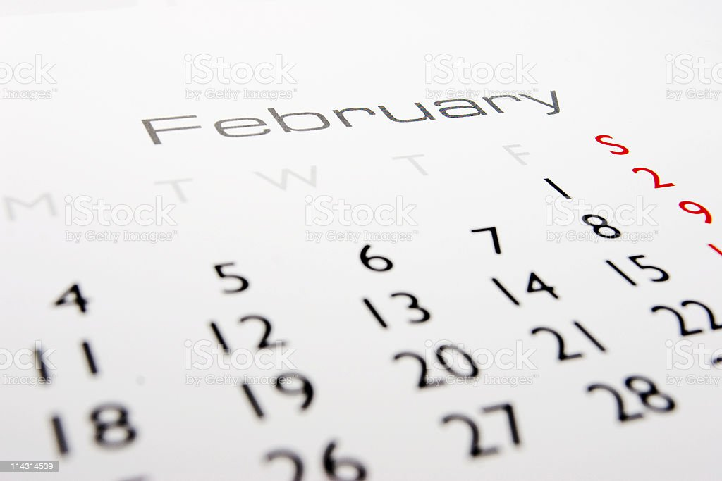 Calendar: February royalty-free stock photo
