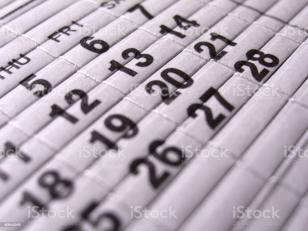 Calendar. Friday 13th royalty-free stock photo