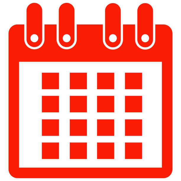 calendar icon stock photo