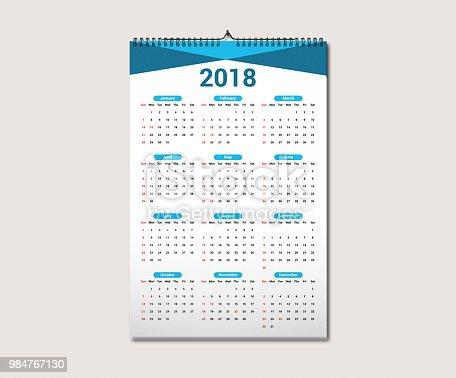 istock Calendar image 2018 with mockup 984767130