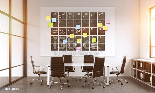 istock Calendar in modern office 610961808