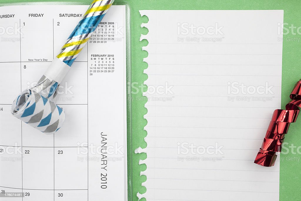 Calendar January 2010 royalty-free stock photo