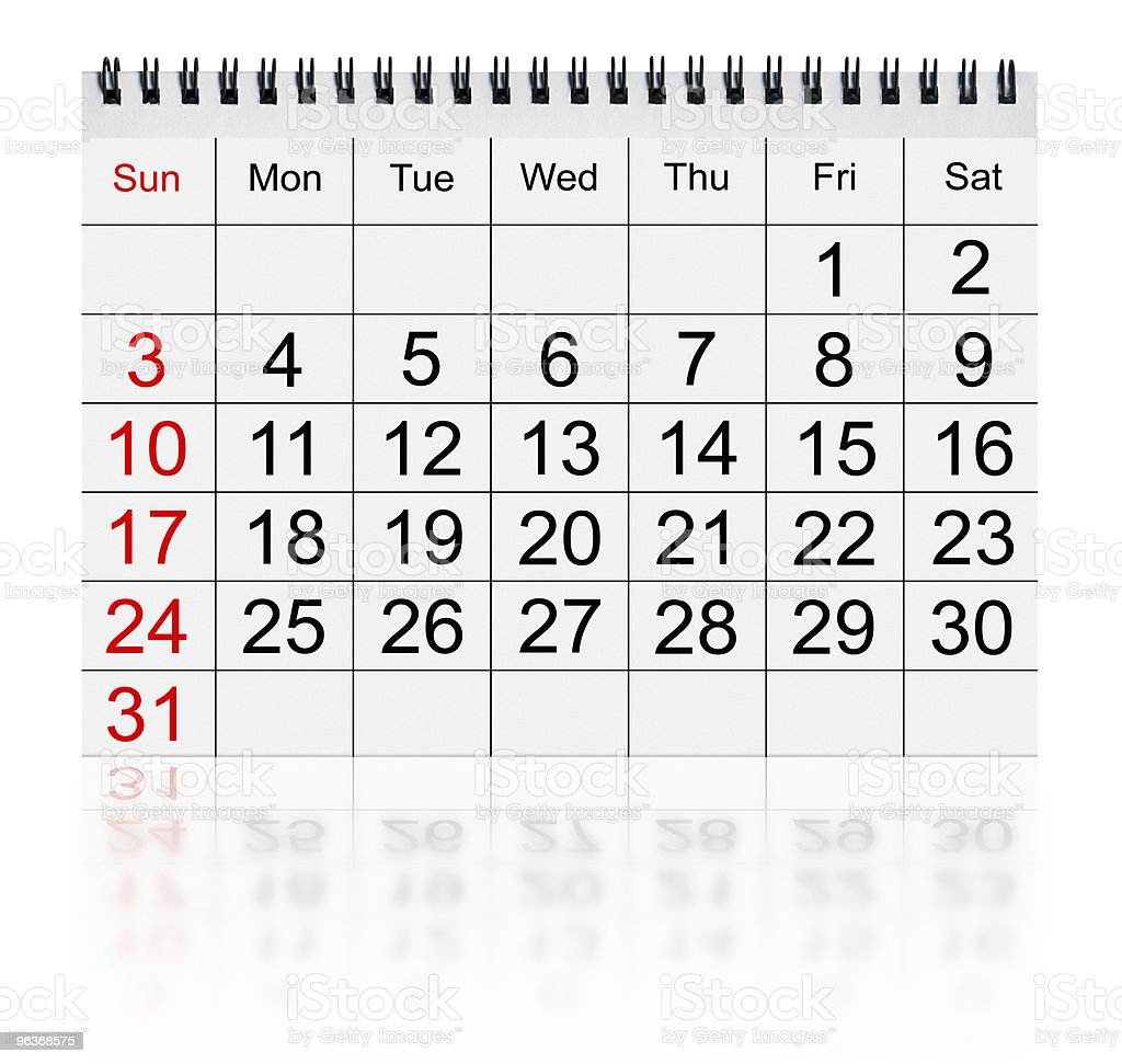 calendar january 2010 royalty-free stock photo