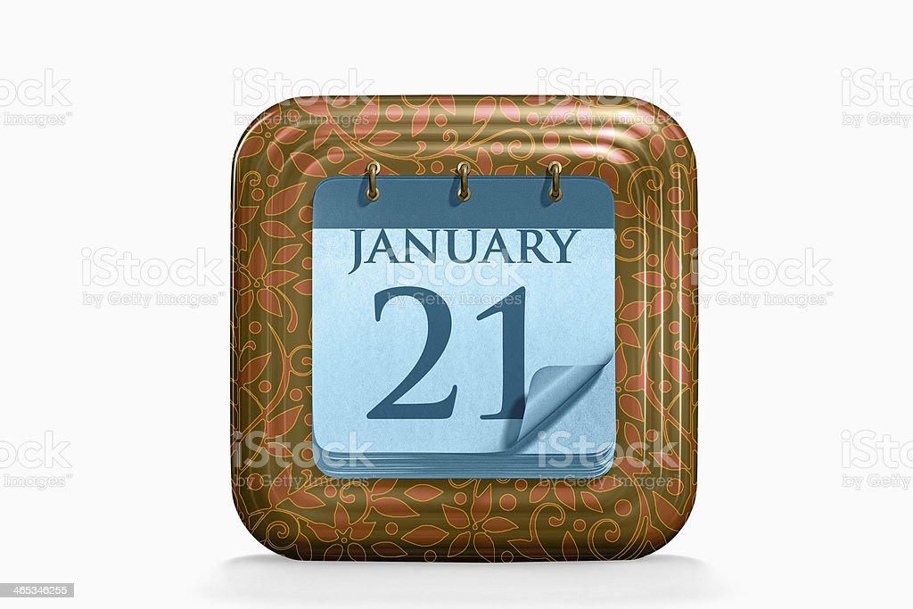 Kalender des Monats Januar – Foto