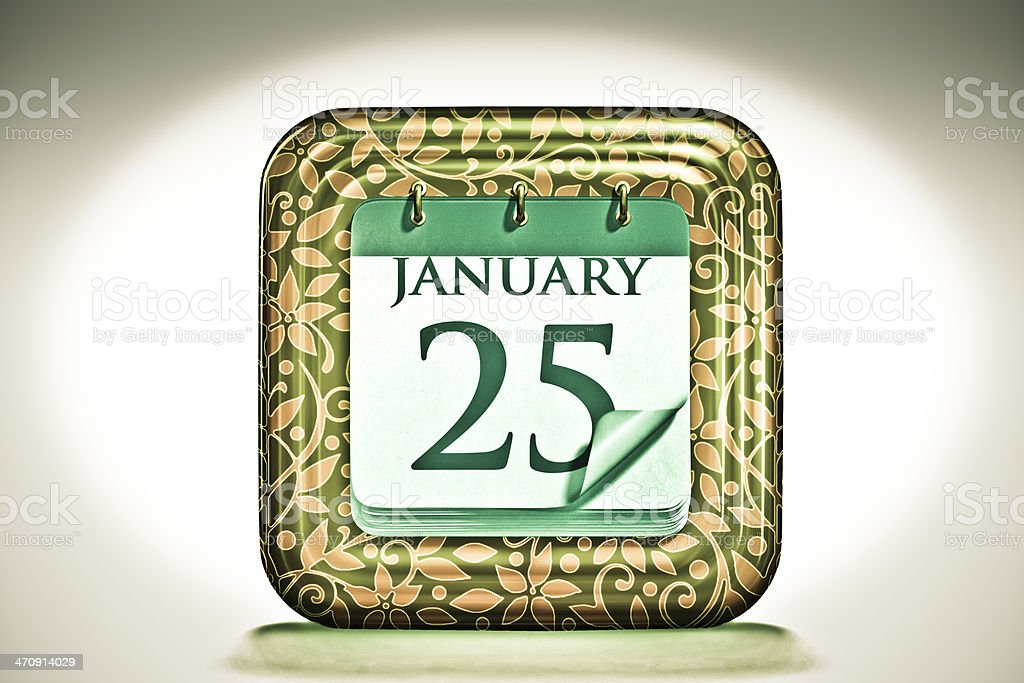 Calendar, January Month stock photo