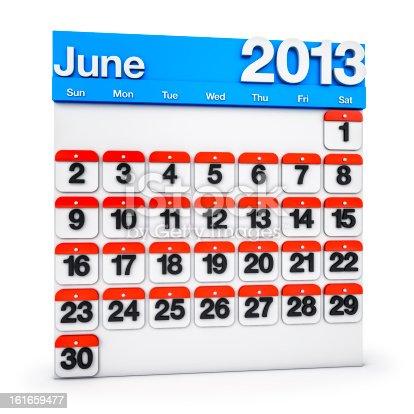 168445178 istock photo Calendar June 2013 161659477