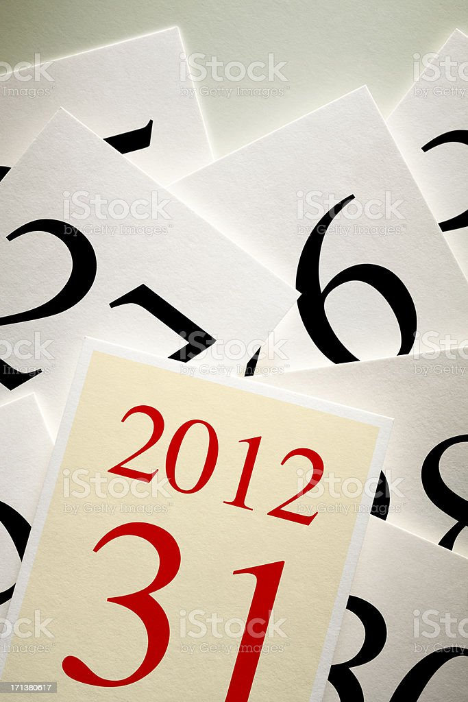 Calendar. Last day of the year stock photo