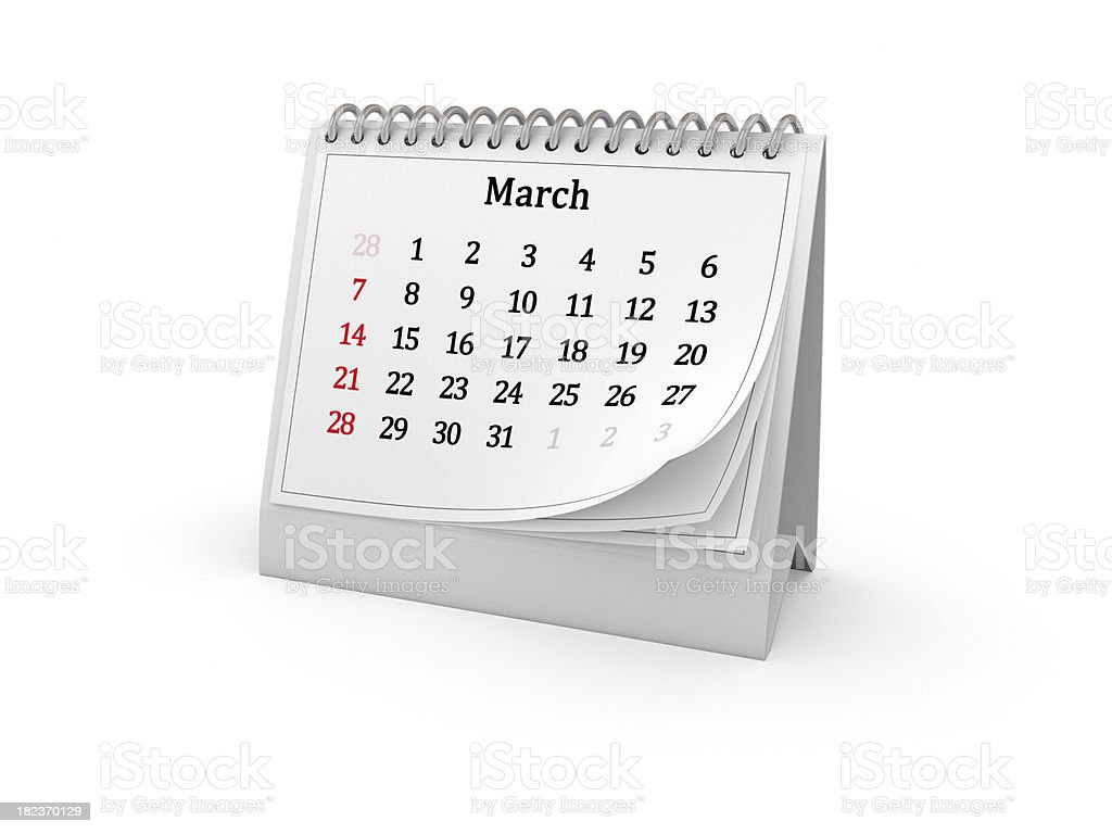 Calendar. March 2010. royalty-free stock photo