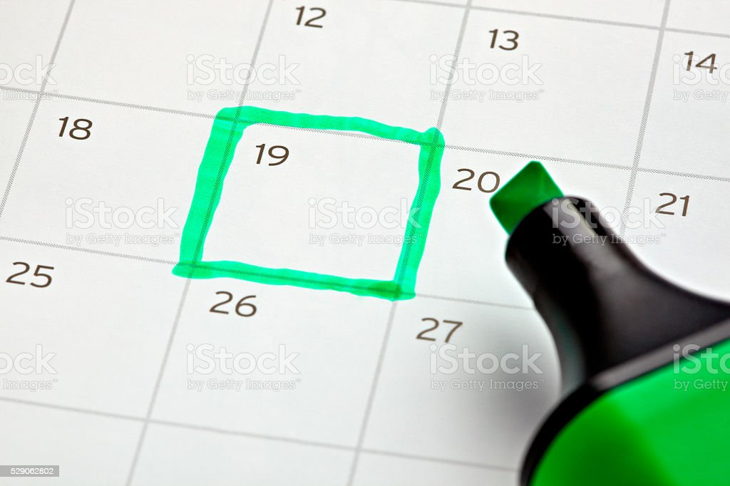 calendar marked important year royalty-free stock photo