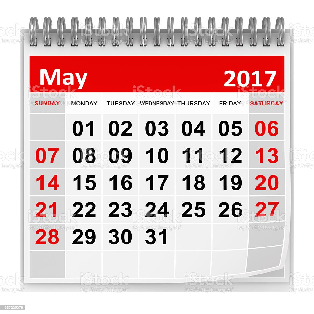 Calendar - May 2017 stock photo