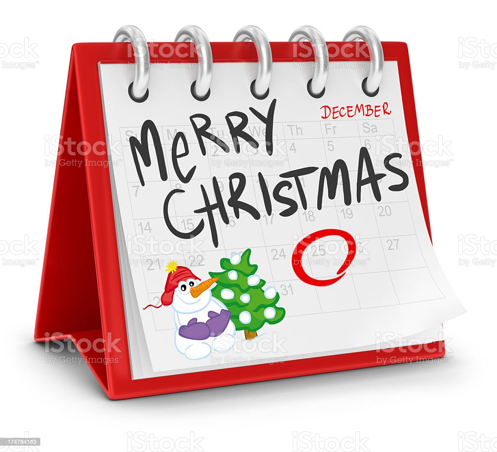 Calendar - Merry Christmas royalty-free stock photo
