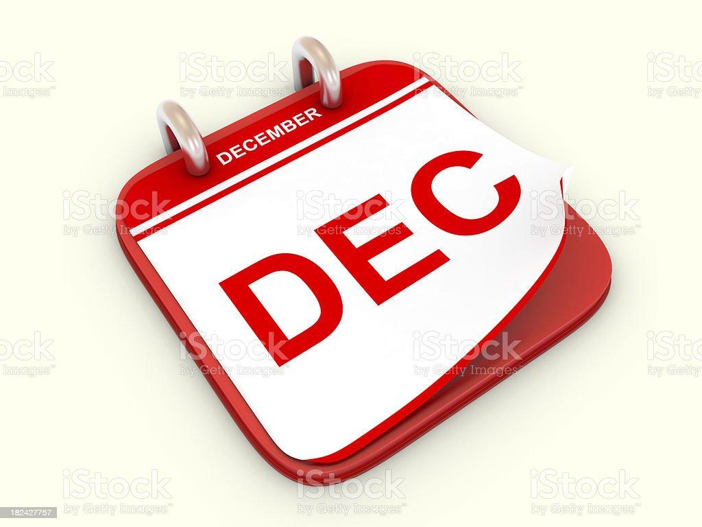 Calendar month December royalty-free stock photo