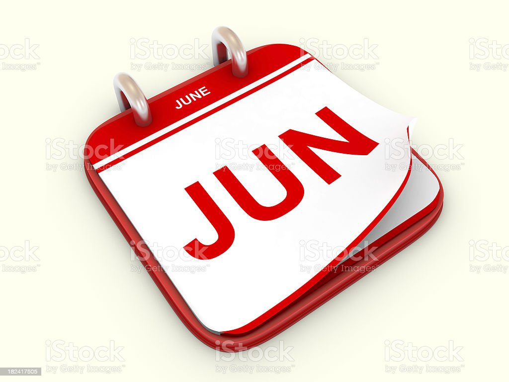 Calendar month June stock photo