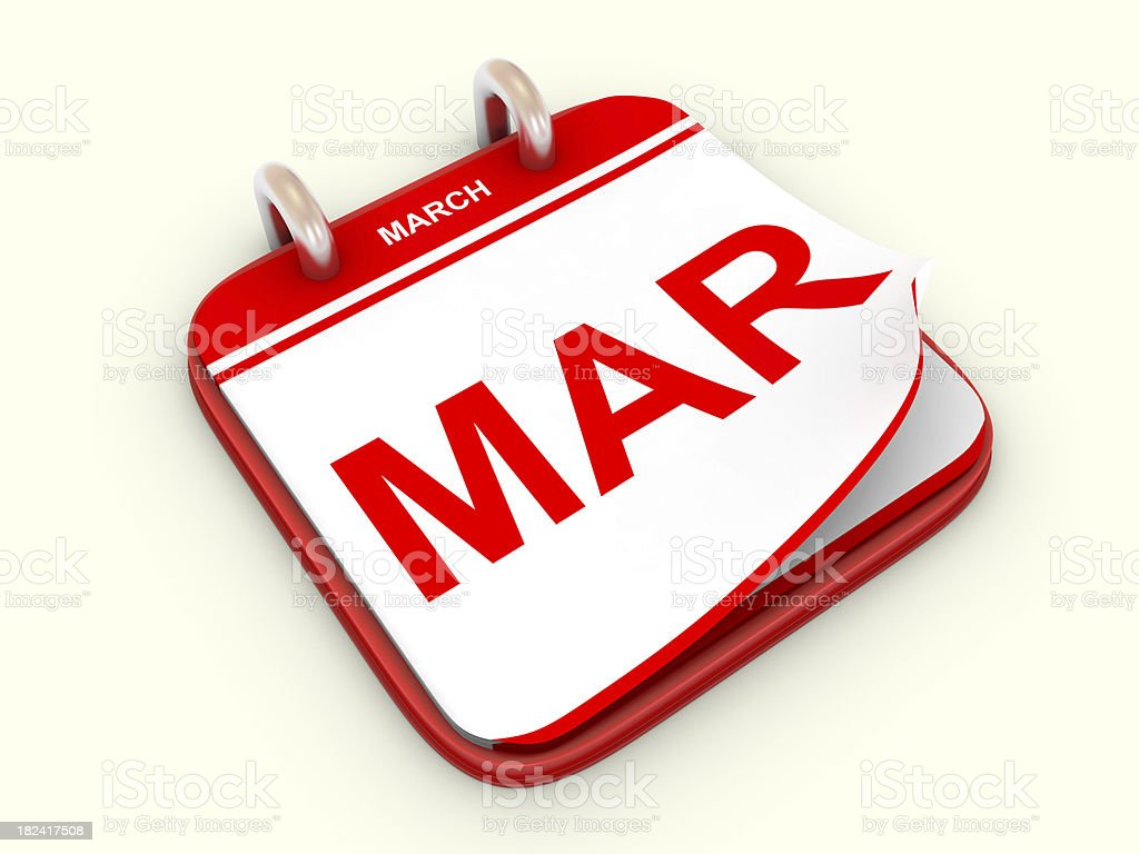 Calendar month March royalty-free stock photo