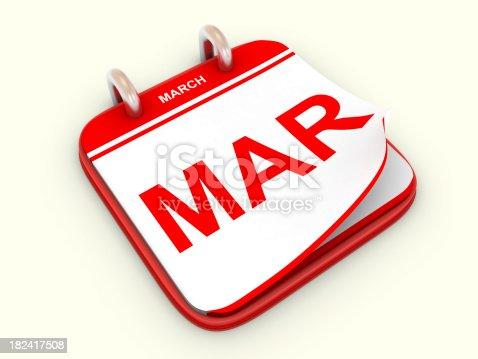 168445178 istock photo Calendar month March 182417508