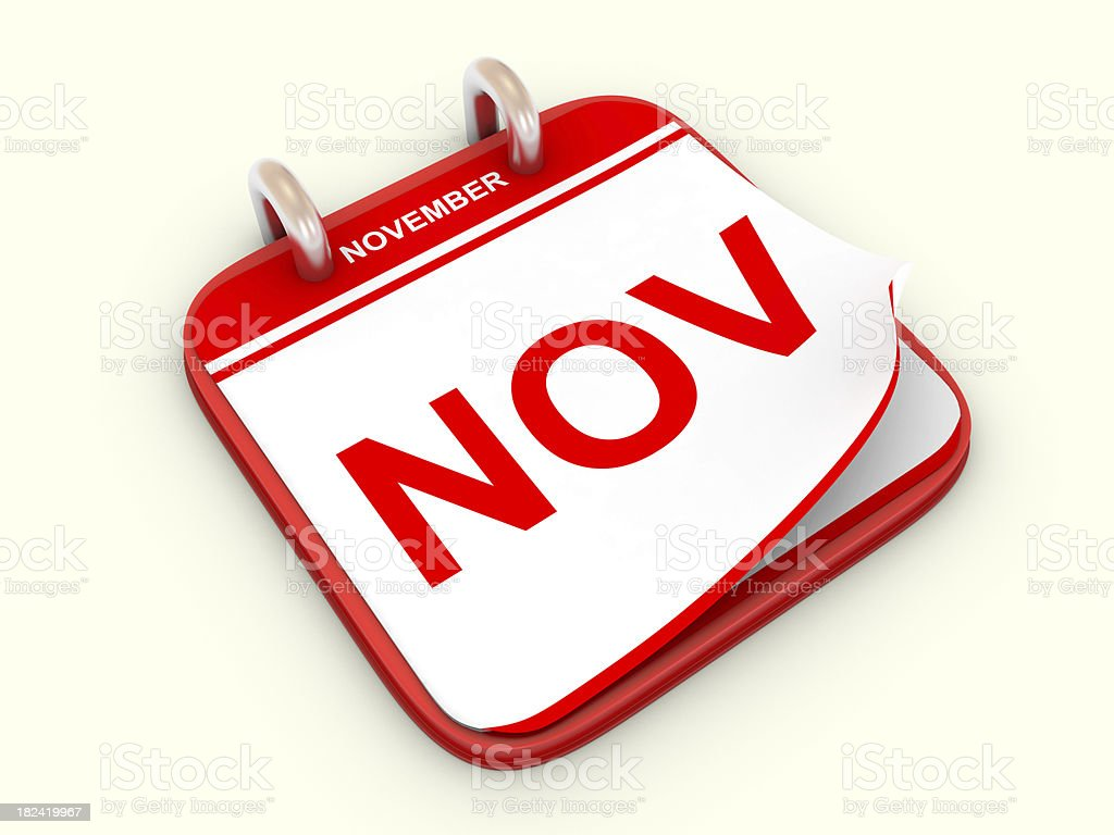 Calendar month November royalty-free stock photo
