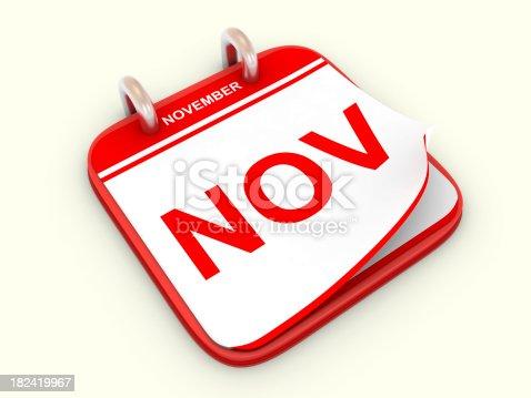168445178 istock photo Calendar month November 182419967
