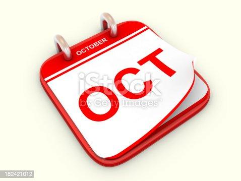 168445178 istock photo Calendar month October 182421012