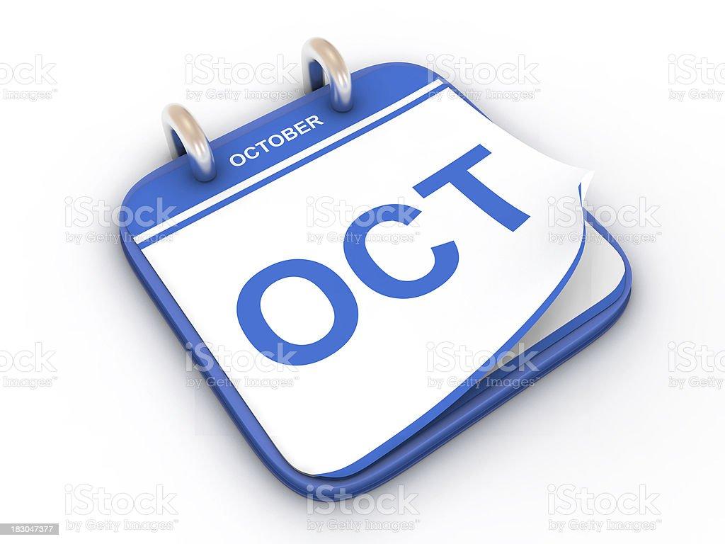 Calendar month October royalty-free stock photo