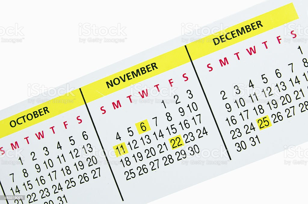 Calendar  Monthly strip royalty-free stock photo