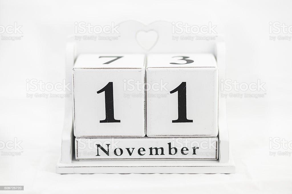 calendar november number wite date