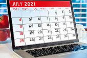 istock Calendar on computer screen 1301322184