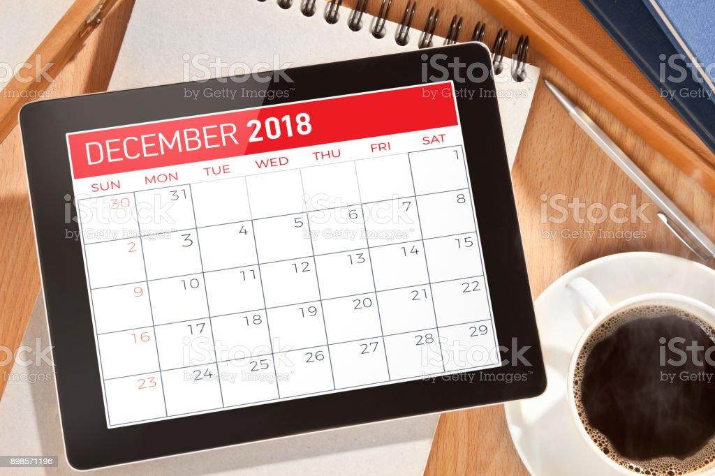 Calendar on Digital tablet
