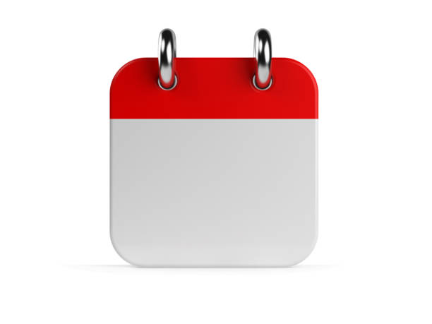 calendar on white - calendar stock pictures, royalty-free photos & images