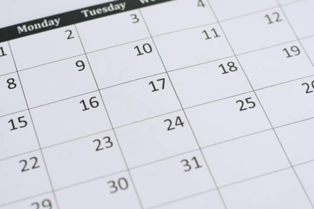 Fondo de la página de calendario - foto de stock