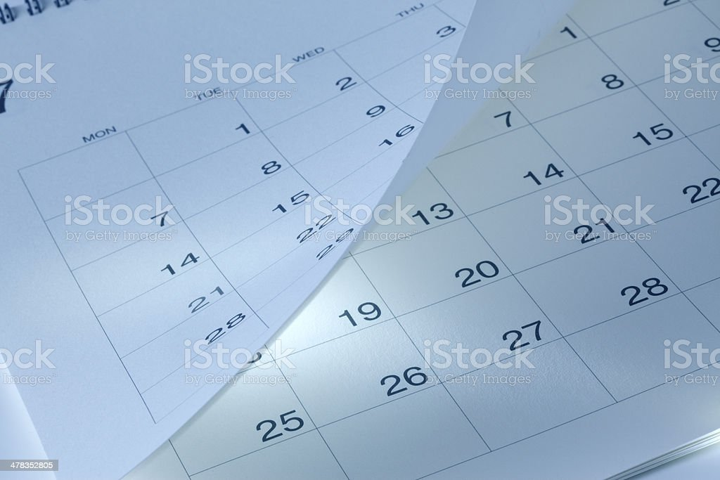 calendar page royalty-free stock photo