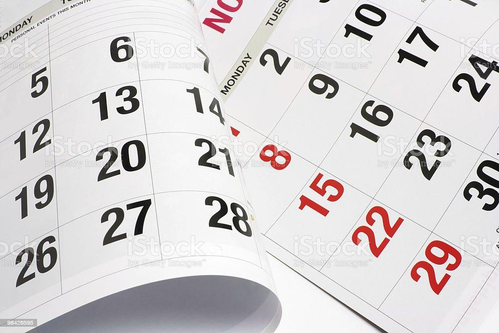 Pagine di calendario foto stock royalty-free