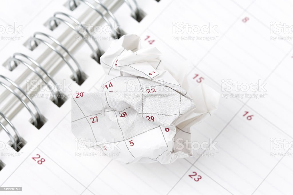 Calendar paper ball royalty-free stock photo