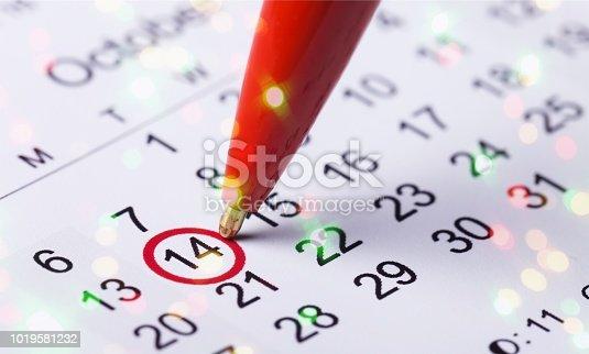 istock Calendar. 1019581232
