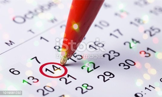 177774403 istock photo Calendar. 1019581232