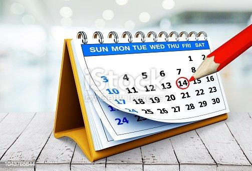 istock Calendar. 1043765844