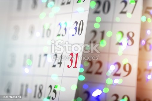 istock Calendar. 1067503174