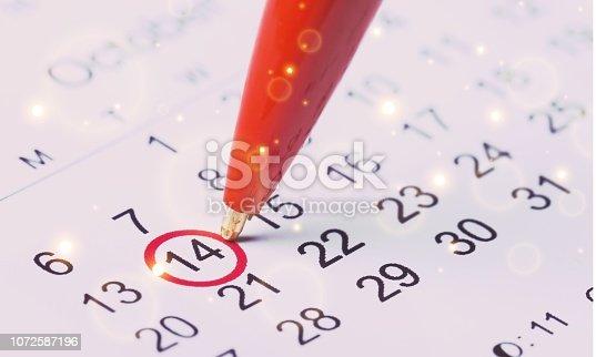 istock Calendar. 1072587196