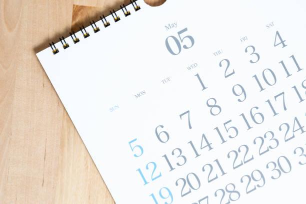 2019 för kalender - maj bildbanksfoton och bilder