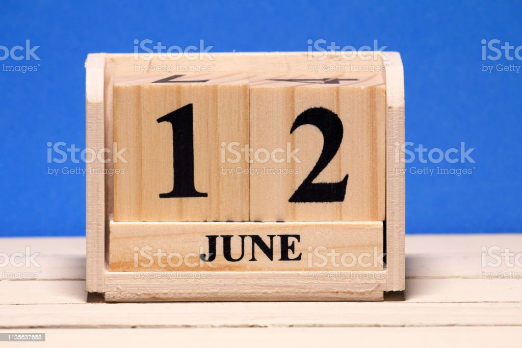 Calendário de junho - foto de acervo