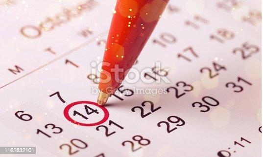 istock Calendar. 1162832101