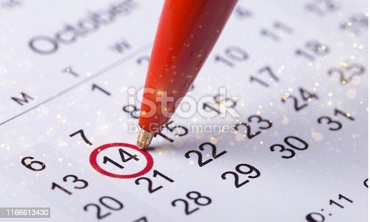 istock Calendar. 1166613430